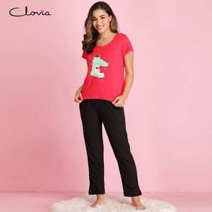 LSC126A14-Printed-Top-Pyjama-Set-In-Dark-Pink-Black-300x300-1