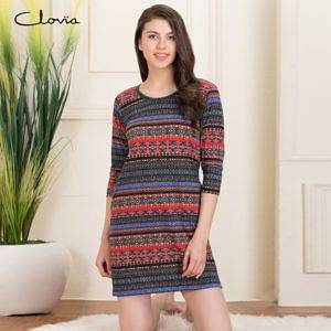 NS1239P19-Short-Night-Dress-with-34th-Sleeves-300x300-1